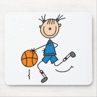 Girl Basketball Player Tshirts and Gifts Mouse Pad
