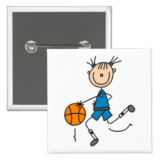 Girl Basketball Player Tshirts and Gifts Pinback Button