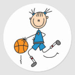 Girl Basketball Player Tshirts and Gifts Sticker