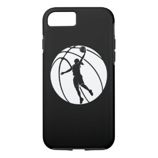 Girl Basketball Silhouette Shooting iPhone 7 Case