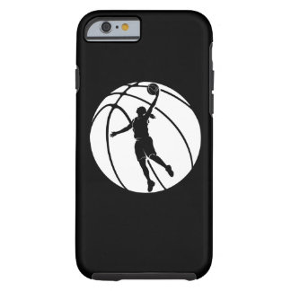 Girl Basketball Silhouette Shooting Tough iPhone 6 Case