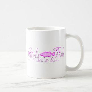 GIRL BASS FISHING MUGS