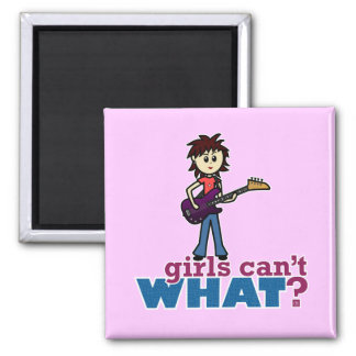 Girl Bass Guitar Player Refrigerator Magnets