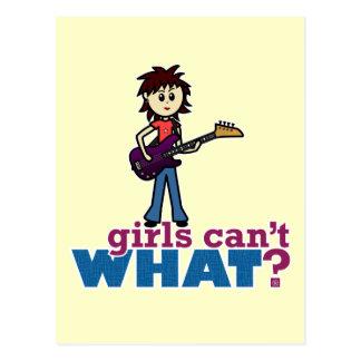 Girl Bass Guitar Player Postcard