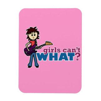 Girl Bass Guitar Player Magnets