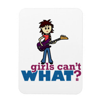 Girl Bass Guitar Player Rectangle Magnet