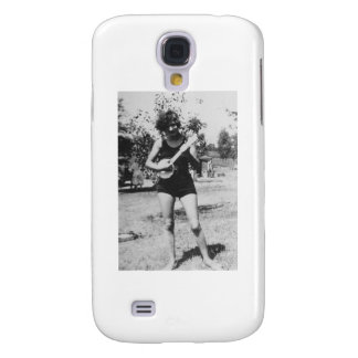 Girl bathing suit beauty playing banjo 1920's galaxy s4 cover