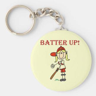 Girl Batter Up Baseball Tshirts and Gifts Keychain