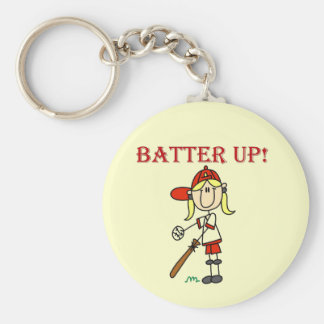 Girl Batter Up Tshirts and Gifts Keychain