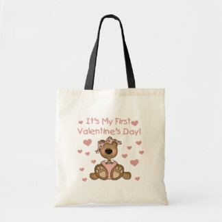 Girl Bear 1st Valentine's Day Bag