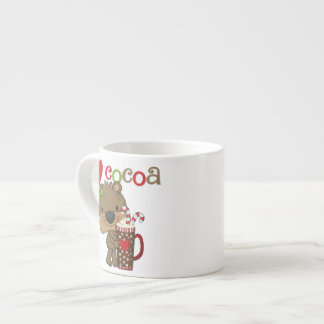 Girl Bear Cocoa Love 6 Oz Ceramic Espresso Cup