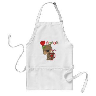 Girl Bear Cocoa Love Aprons