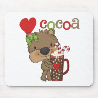 Girl Bear Cocoa Love Mousepads