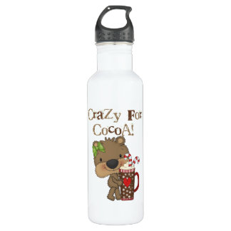 Girl Bear Crazy For Cocoa 24oz Water Bottle