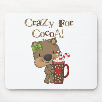 Girl Bear Crazy For Cocoa Mousepad