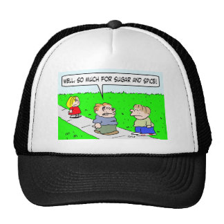 girl beat up sugar and spice trucker hat
