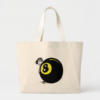 GIRL BEHIND 8 BALL CANVAS BAG