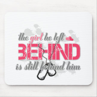 Girl behind mouse pad