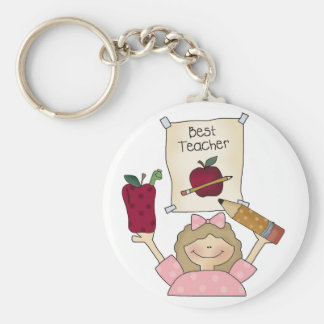 Girl Best Teacher Key Chains