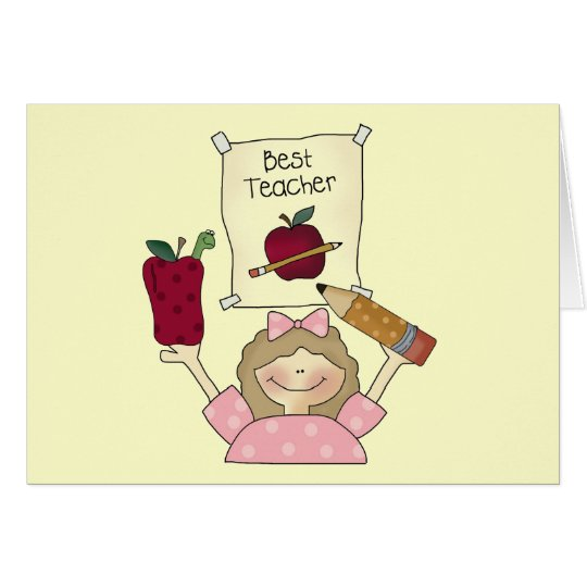 Girl Best Teacher Tshirts and Gifts Card