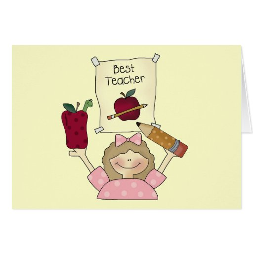 Girl Best Teacher Tshirts and Gifts Greeting Card