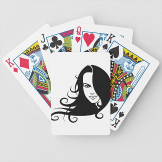 Girl Bicycle Playing Cards
