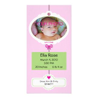 Girl Birth Announcement Mobile