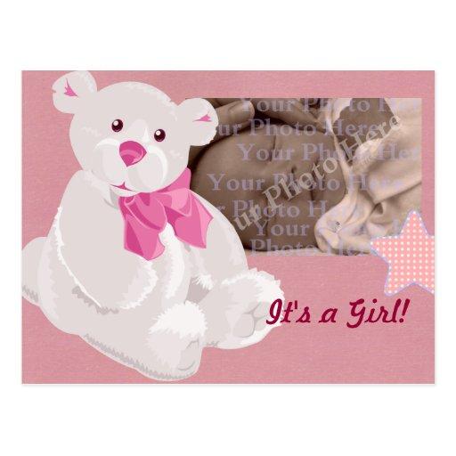 Girl Birth Announcement Postcard