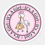 Girl Birth Announcement Stickers