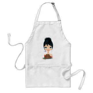 girl birthday adult apron