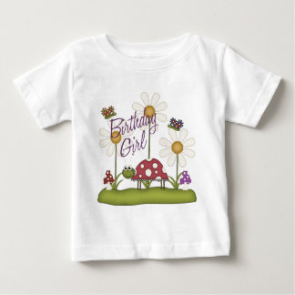 Girl Birthday Bugs Baby T-Shirt