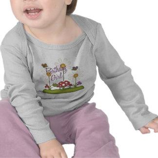 Girl Birthday Bugs Tshirts