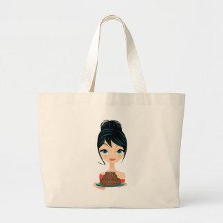 girl birthday canvas bags