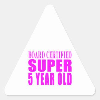 Girl Birthdays Board Certified Super Five Year Old Sticker