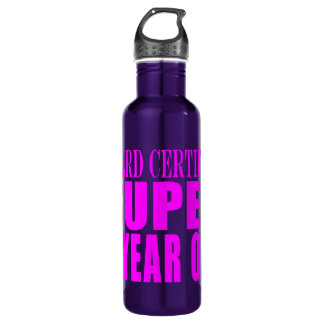 Girl Birthdays Board Certified Super Six Year Old 24oz Water Bottle