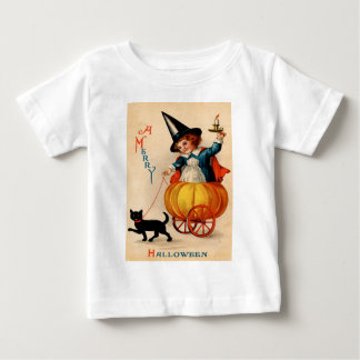 Girl & Black Cat Baby T-Shirt