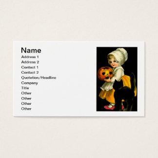 Girl & Black Cat Business Card
