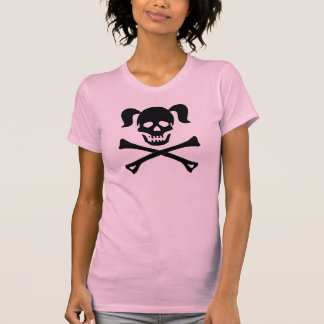 Girl Black Skull With Pigtails Light Color Woman Shirt