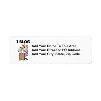 Girl Blogger Label