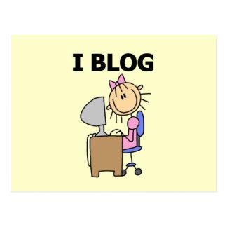 Girl Blogger Postcard