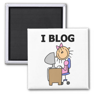Girl Blogger Tshirts and Gifts 2 Inch Square Magnet