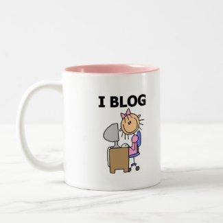 Girl Blogger Tshirts and Gifts mug