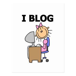 Girl Blogger Tshirts and Gifts Postcard