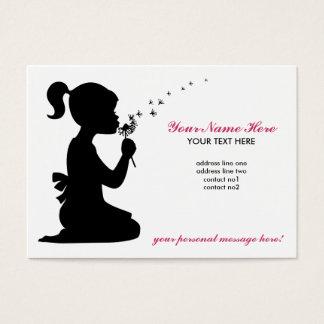 Girl Blowing Dandelion Business Card