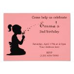 """Girl blowing dandelion invitation 5"""" x 7"""" invitation card"""