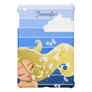 Girl Blowing Dandilion iPad Mini Case
