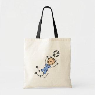 Girl Blue Soccer Uniform Tote Bag