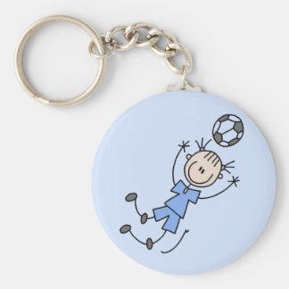 Girl Blue Soccer Uniform Tshirts and Gifts Key Chain