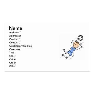 Girl Blue Uniform Soccer Player T-shirts and Gifts Business Card Template