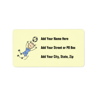 Girl Blue Uniform Soccer Player T-shirts and Gifts Label